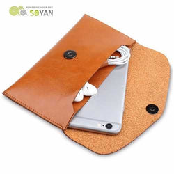 SOYAN Universal Multifunctional PU Leather Wallet Case Phone Bag Cover for under 6 inch Smartphone