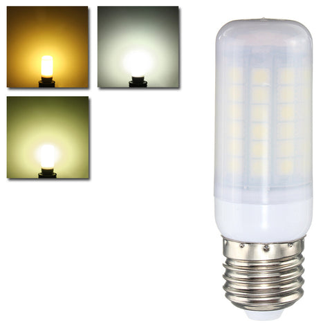 E27 E14 B22 GU10 6W 69 SMD 5050 LED Pure White Warm White Natural White Cover Corn Bulb AC220V