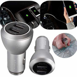 QC 2.0 Dual 2 USB Aluminum Alloy Safety Hammer Fast Charging Car Charger