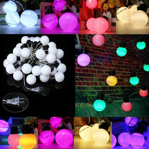 10m 38 Balls LED String Fairy Lights Party Xmas Wedding Holiday Lamp 110V US Plug