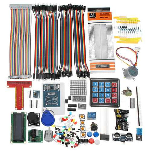 LCD1602 Breadboard DuPont Cable RFID Starter Learning Kit For Raspberry Pi For For Geekcreit Arduino - products that work with official Arduino boards