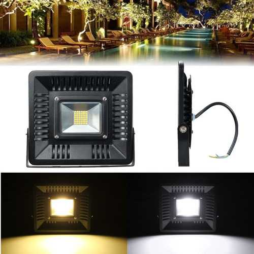 50W Outdooors Ultra Thin LED Flood Light Garden Yard Lamp Warm Pure White
