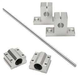8x400mm Linear Rail Shaft with 2pcs Shaft Supports and 2pcs Linear Bearing Block
