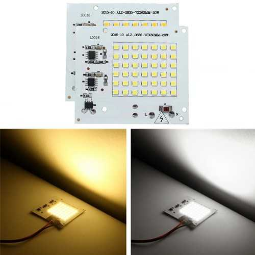 20W SMD2835 Outdooors Smart IC LED COB Chip Bead DIY Flood Light Lamp 220V