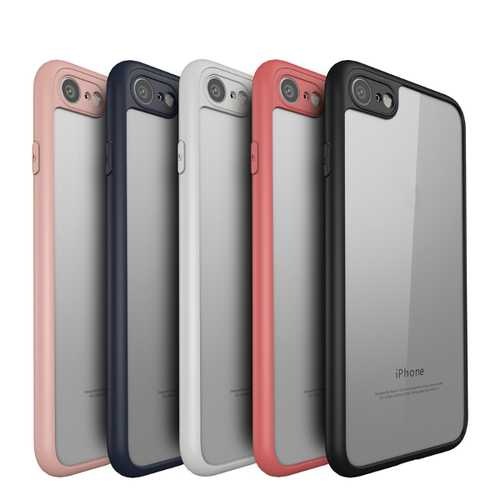 Keziwu Clear Transparent Hybrid PC TPU Case For iPhone 7