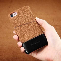 Floveme Litchi Stria  Card Slot PU PC Case t For iPhone 7