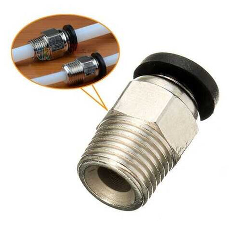 PC4-01 Pneumatic Connector For 1.75mm PTFE Tube Quick Coupler Feed Inlet 3D Printer Part