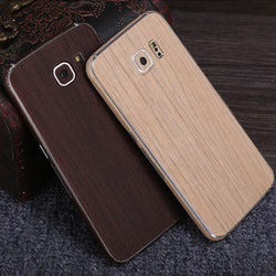 SIMW Colorful Retro Matte Anti-Scratch Wood Grain Phone Skin Sticker Protector for Samsung Galaxy S7
