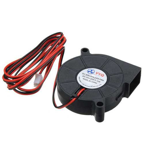 DC24V Cooling Fan Ultra Quiet Turbine Small DC Blower 5015 For 3D Printer Circuit Board