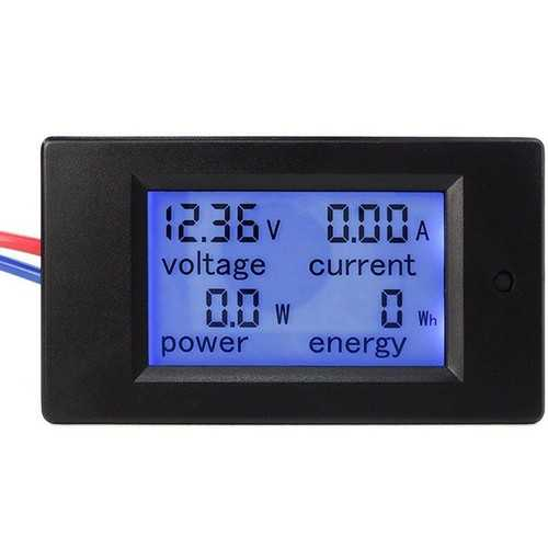 PZEM-031 DC 6.5-100V 20A 4 in 1 Digital Display LCD Screen Voltage Current Power Energy Meter