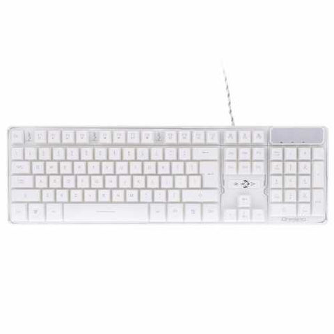 A879W Wired 3-color Adjustable Backlit Gaming Keyboard White