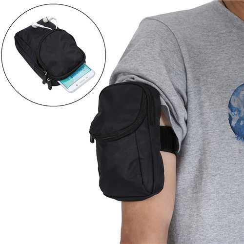 Multifunctional Double Layer Sport Running Adjustable Waist Bag Arm Bag for Phone Under 6.3-inch