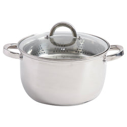 Oster Sangerfield 6 Quart Stainless Steel Casserole with Steamer Insert and Lid