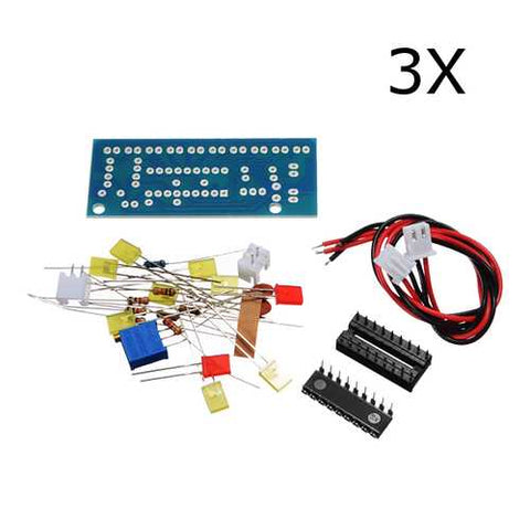 3Pcs DIY LM3915 Audio Level Indicator Electronic Production Suite Kit