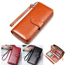 Floveme Fashion Woman PU Zipper Wallet Bag Multifunctional Purse for Samsung Xiaomi Mobile Phone