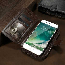 Floveme Detachable Zipper Wallet Case For iPhone 7 Plus/8 Plus