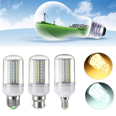 Non-Dimmable 9W E27 E14 B22 4014 SMD LED Corn Light Bulb Lamp AC110V/220V