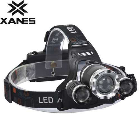 XANES 747 1000 Lumens T6+XPE LED Bicycle Headlight Telescopic Zoom Outdoor Sports HeadLamp 4 Modes