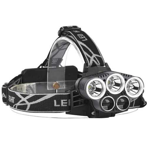XANES 2309-A 1500 Lumens Bicycle Headlight 6 Switch Modes 3 x T6 + 2 x LTS White Light Adjustable HeadLamp
