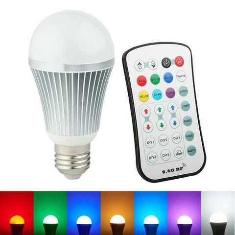 ARILUX E27 9W Color Changing LED Globe Light Bulb with 2.4G Wireless Remote Controller AC85-265V