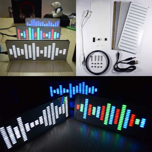 Geekcreit® DIY Big Size Touch Control 225 Segment LED Digital Equalizer Music Spectrum Sound Waves Kit