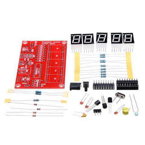 5Pcs Original Hiland 1Hz-50MHz Five LED Display Frequency Counter With Frequency Oscillator Kit