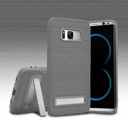 Brushed Finish Collapsible Kickstand Case For Samsung Galaxy S8