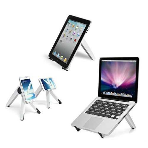 "Universal Rotatable Stand Holder For Iphone Samsung Smartphone 3""-6"" iPad Tablet 7""-10"" Laptop Under 14"""