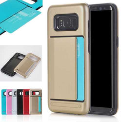Multi-colors TPU+PC Hybrid Card Slots Shockproof Armor Cover Case For Samsung Galaxy S8