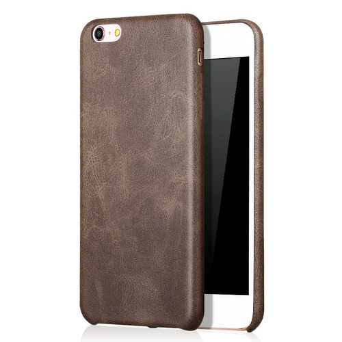 Bakeey™ Retro Soft PU Leather Ultra Thin Shockproof Case Back Cover For iPhone 6Plus 6sPlus 5.5 Inch