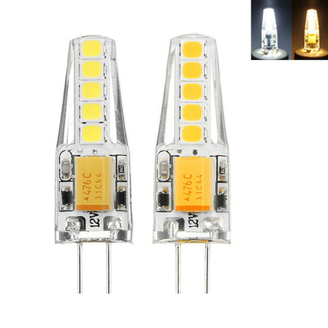 G4 2W 2835 Dimmable 10 LEDs Warm White  White LED Decorative Light Bulb AC12V