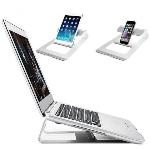Universal Aluminum Alloy Heat Dissipation Laptop Stand Tablet Holder for Macbook iPad & iPhone