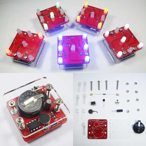 Geekcreit DIY Shaking LED Dice Kit With Small Vibration Motor