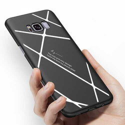 Stripped Lines Pattern Micro Matte Anti Fingerprint Case For Samsung S8 Plus
