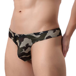 Camo Printing Sexy Fashion U Convex Briefs Thongs for Men