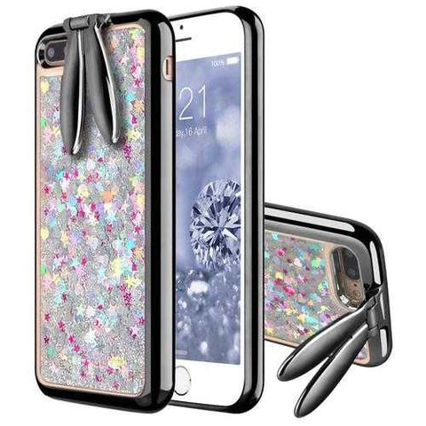Bakeey™ Rabbit Ears Bracket Glitter Quicksand Dynamic Liquid Plating TPU Case for iPhone 7Plus 5.5''