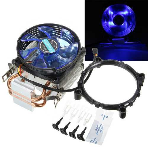 95mm LED Copper CPU Cooler Cooling Fan Heat Sink for Intel LGA775/1156/1155 AMD AM2/AM2+