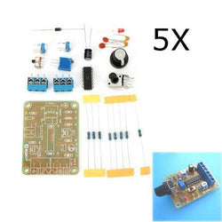 5Pcs DC12 DIY ICL8038 Function Signal Generator Kit Sine Triangle Square Wave Signal