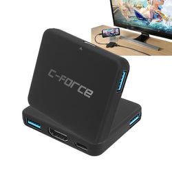 C-FORCE CF003 Type-C to Type-C USB 3.1 4K Display Hub USB Docking for Nintendo Switch for Samsung S8