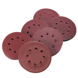 60Pcs 5 Inch 8-hole Hook Loop Sanding Discs Sandpaper 60/80/120/180/240/320 Grit