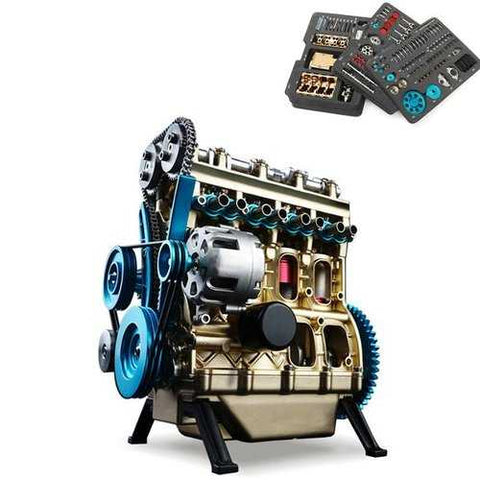 Teching V4 DM13 Four-Cylinder Stirling Engine Full Aluminum Alloy Model Collection