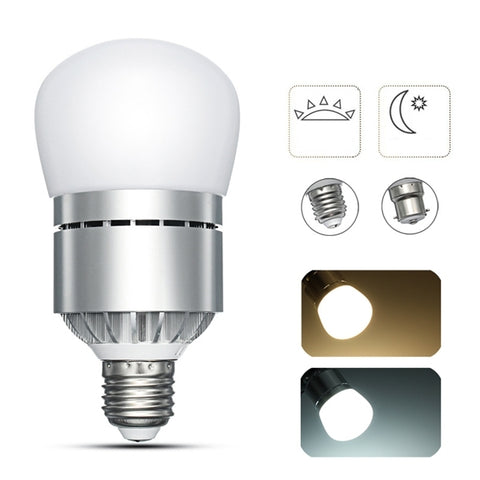 E27 B22 12W Bayonet Dusk to Dawn Automatic On&Off LED Sensor Light Bulb For Porch  AC85-265V
