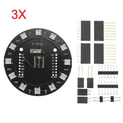 3Pcs Wemos X-Ring RGB WS2812b LED Module For RGB Built-in LED 12 Colorful LED Module For WAVGAT ESP8266 RGB