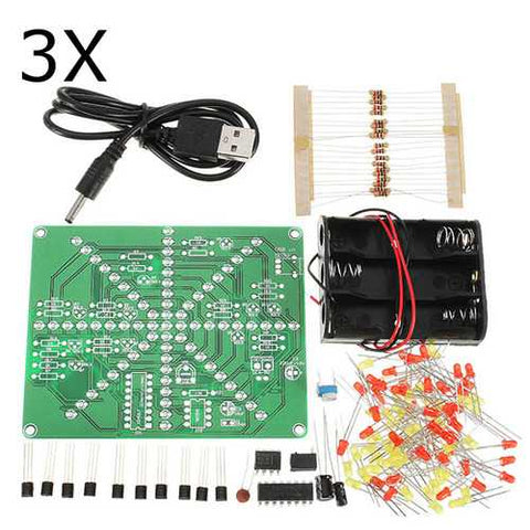 3Pcs DIY LED Lamp Kit LED Flash Set Electronic Production Kit