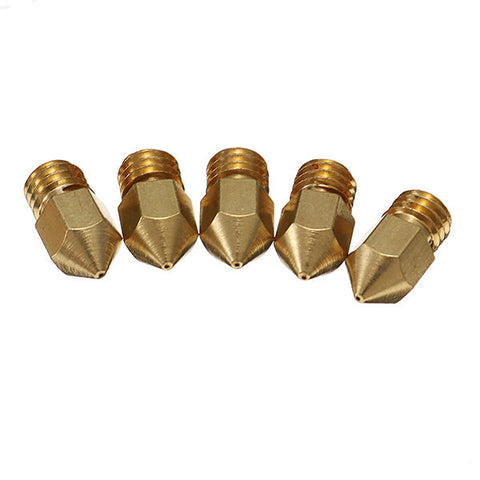 Creality 3D? 5PCS 0.4mm Copper M6 Thread Extruder Nozzle For 3D Printer