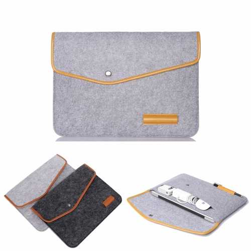 15 Inch Wool Leather laptop Sleeve Bag For Laptop Macbook Pro/Air 15""