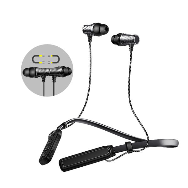 Caldecott BTKDK05 Magnetic Adsorption Voice Prompt CSR 4.1 Neckband Bluetooth Earphone