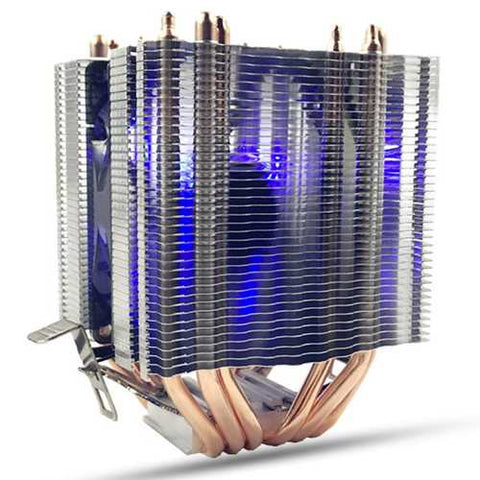 6 Heat Pipes Blue LED CPU Cooling Fan Cooler Heat Sink For Intel LAG 1155 1156 AMD Socket AM3/AM2