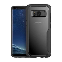 Bakeey™ Shockproof Transparent Acrylic Soft Silicone Case for Samsung Galaxy S8 Plus