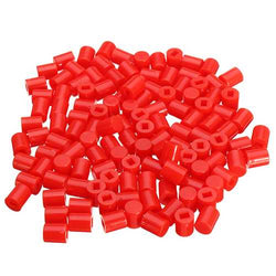 100pcs 6 x 7mm Round Button Cap Hat Suitable For 8.5 x 8.5mm / 8 x 8mm Series Of Self-Locking Switch